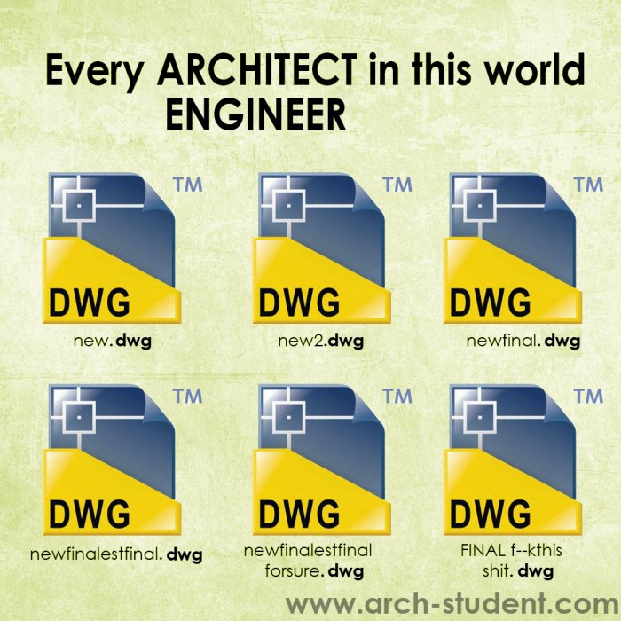 Every ARCHITECT/ENGINEER in this world