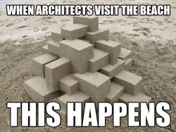 When the ARCHITECTS visit the beach this happens