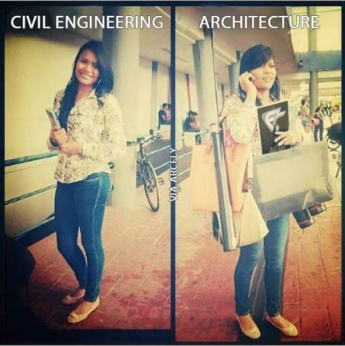 Architect Student civil engineering vs architect | arch-student
