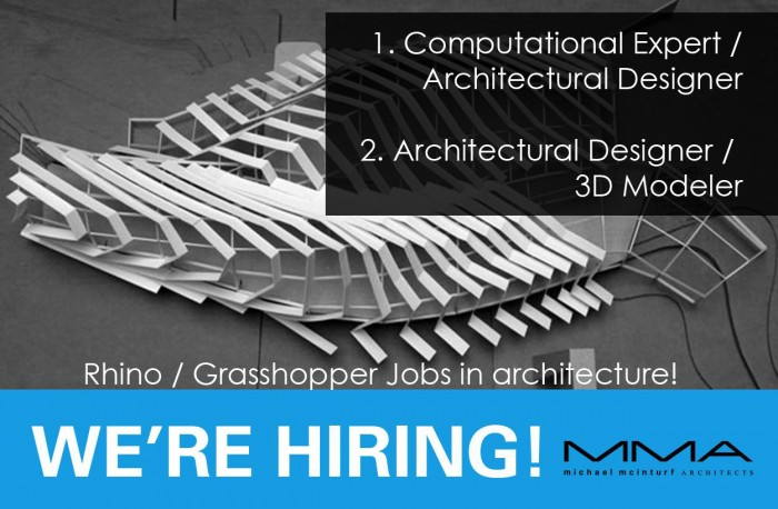 Rhino / Grasshopper Jobs in architecture!
