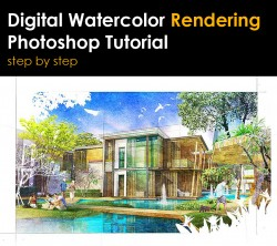 Digital Watercolor Painted in Photoshop :: SketchUp 3D Rendering Tutorials by SketchUpArtists