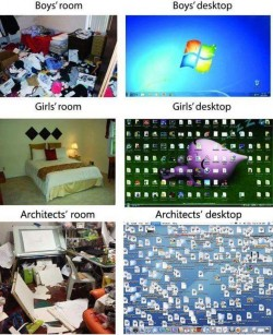 Architect's desktop