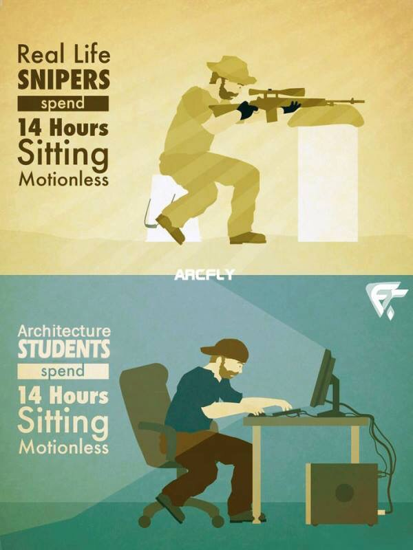 Architect Student real life snipers vs architecture students | arch-student