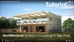Architectural Exterior modeling in 3ds max