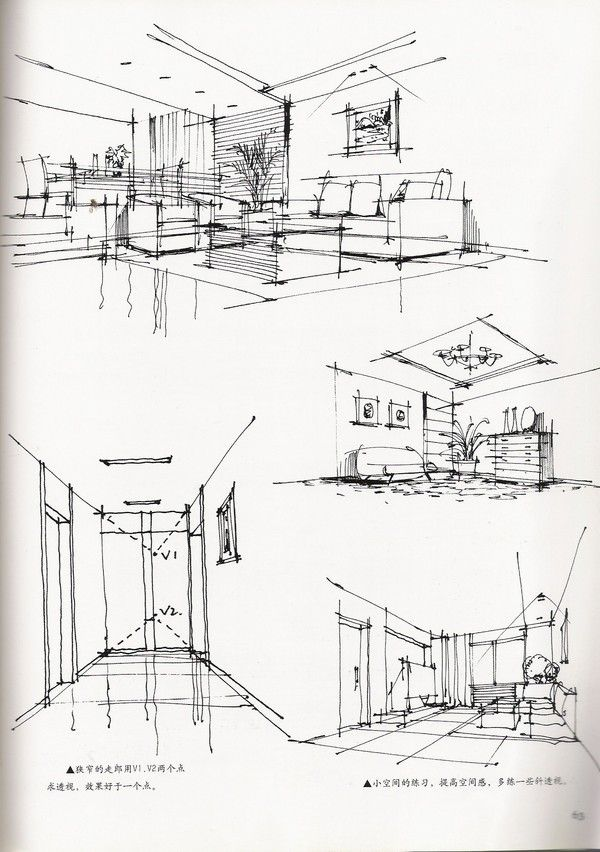 Hand renderings arch for How to draw architectural plans by hand