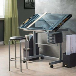 Glass Architecture Drafting Table