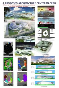 "My thesis entitled "" A Proposed Architecture Center in Cebu"""