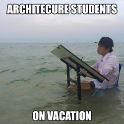 Architecture students on Vacation