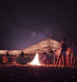 Barberio Colella ARC's Lanterns Sea Village Proposes Non-Invasive Ocean Dwellings for Surf ...