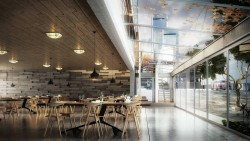 The cafe – Rendering made by 3ds max , V ray and Ps