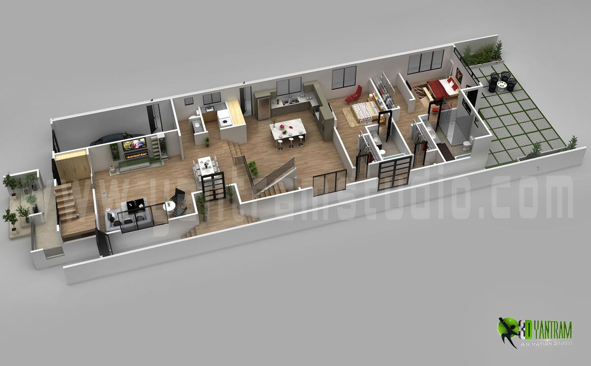 Www.yantramstudio.com. 3D Floor Plan Design For Modern Home