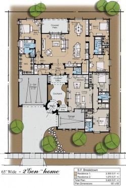 Nice floor plan rendering technique