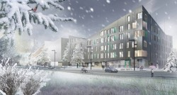 Housing Architectural Winter Visualisation