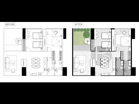 Architecture plan render by photoshop_ Simple style _ PART 3 – YouTube