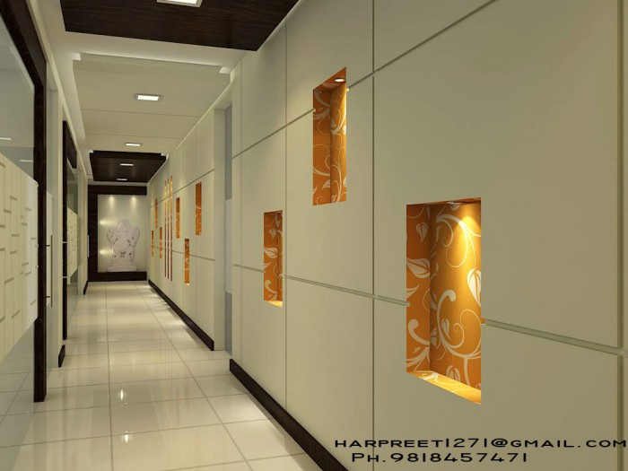 office lobby area 3d view