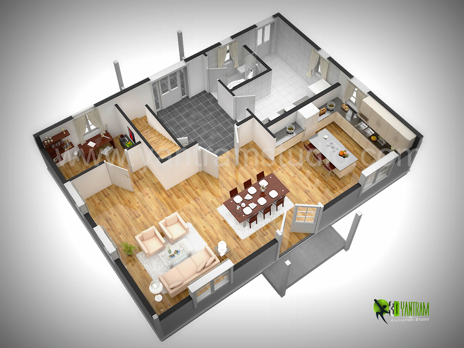 3D Floor Plan Rendering 3D Floor Plan