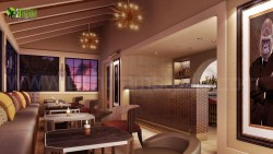 Interior Design Rendering For Commercial Bar