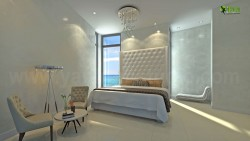 Interior Design Rendering for Classic Modern Bedroom