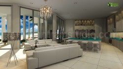 Living Room Interior Design Rendering Animation