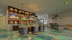 3D Interior Bar Design in Modern Bunglow