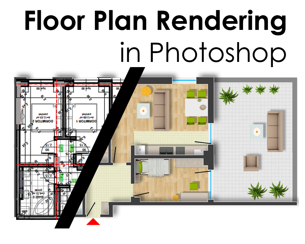 Floor plan rendering in photoshop arch Rendering floor plans