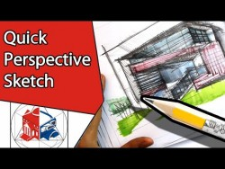 How To Draw A Simple House – Quick Perspective Sketch Tutorial