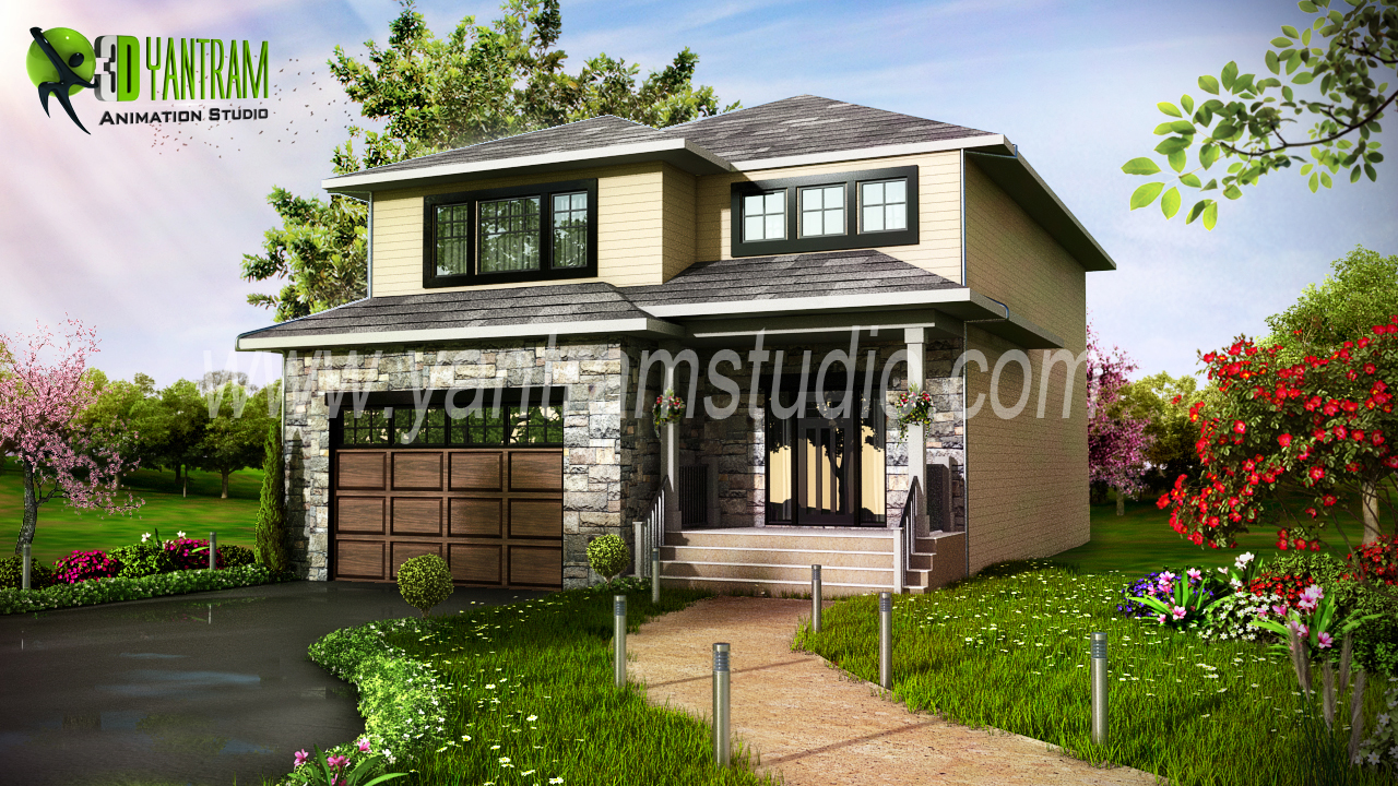 Modern home 3d exterior design usa arch for Exterior 3d design