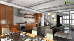 3D Interior Kitchen Design