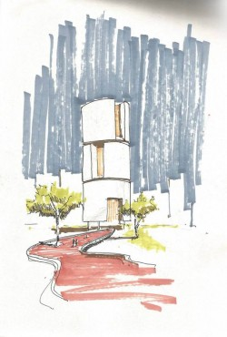 sketch by Rizvi Hassan | Architectural Presentations | Pinterest