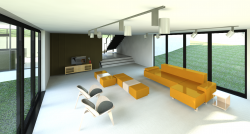 Revit architecture basic rendering without editing.