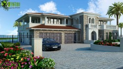 Luxurious Home Exterior Design Rendering Washington