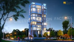 3D Architectural Night View