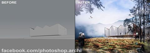 Photoshop Post Production | Architecture Visualization Rendering
