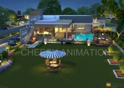 3D Exterior night View