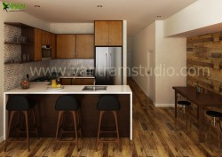 3D Interior Kitchen Design View
