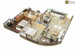 3D Restaurants Floor Plan