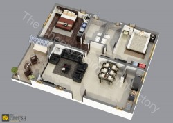 3D Restaurant Floor Plan