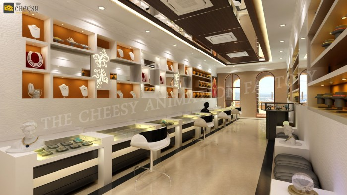 3d jewellery shop interior design arch studentcom for Interior design online shopping india