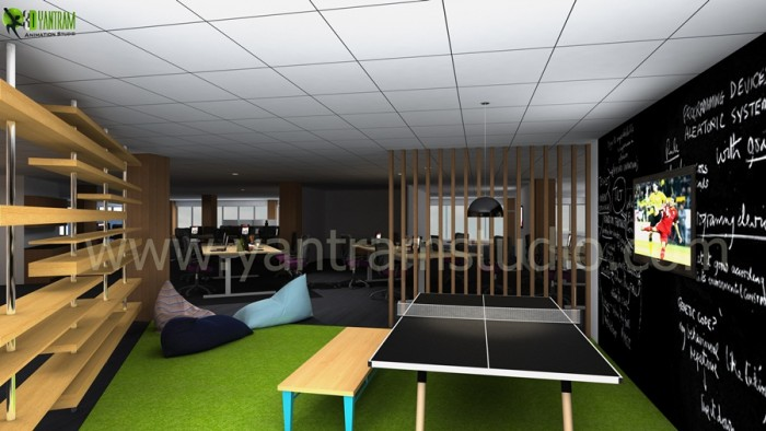 Office Interior Rendering View