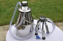 Portable Cow Milker Stainless Steel Milking Bucket Tank Barrel $160.00