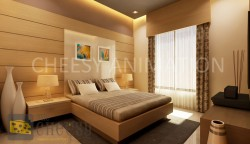 3D Bedroom Interior Rendering