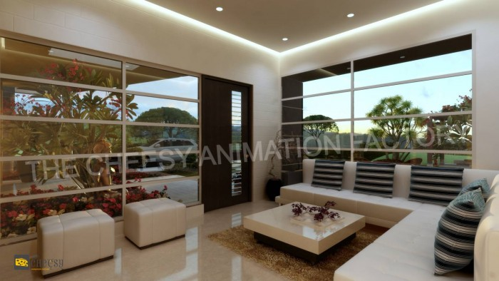 3D Architectural Room Design
