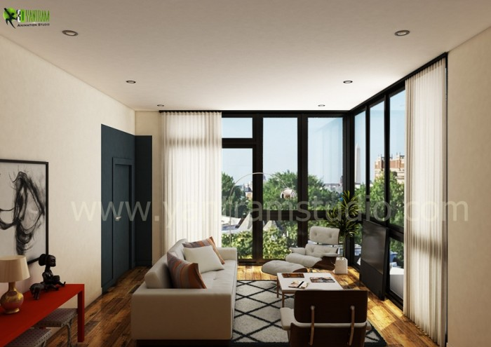 Living Room Interior Rendering