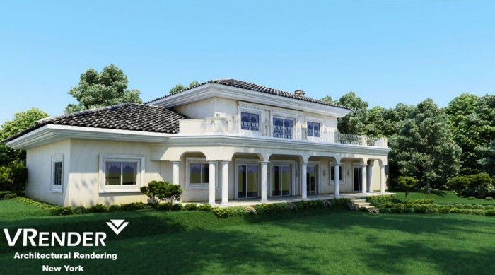 What is a 3D visualization of exterior? Examples