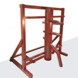 Wing Chun Dummy For Sale – Lychee Wood ( with Frame Mounted Stand )
