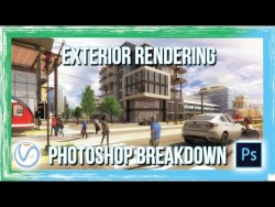 Architectural Exterior Rendering Photoshop Breakdown