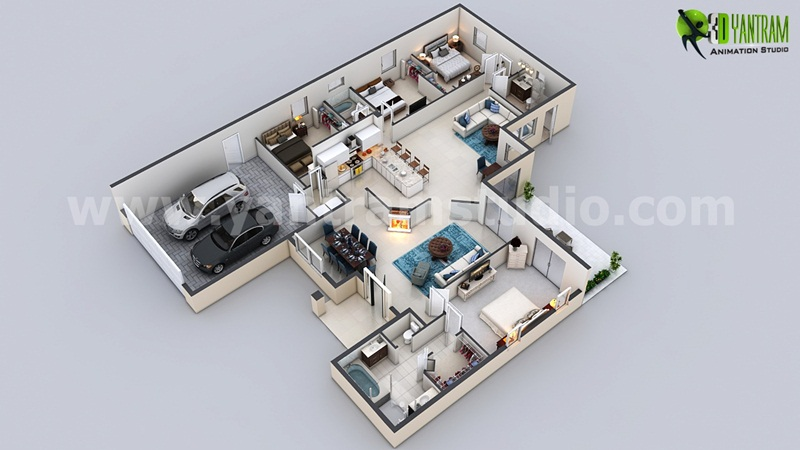 modern 3d floor plan design arch student com best open floor house plans cottage house plans