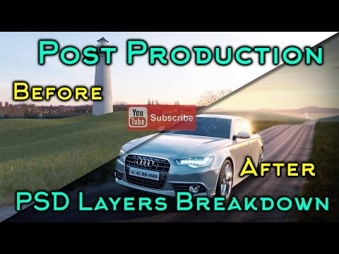 Post Production Photoshop Architecture Car Mood Shot Before and After – YouTube