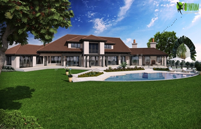 A Georges Design of Dream House Back View