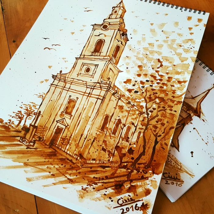 Orthodox Church – Coffee Painting